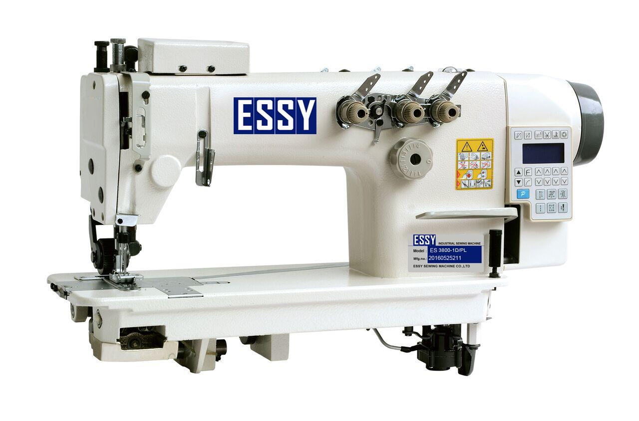 Máy 2 kim  móc xích, liền trục, có lô kéo vải ES3800-2D