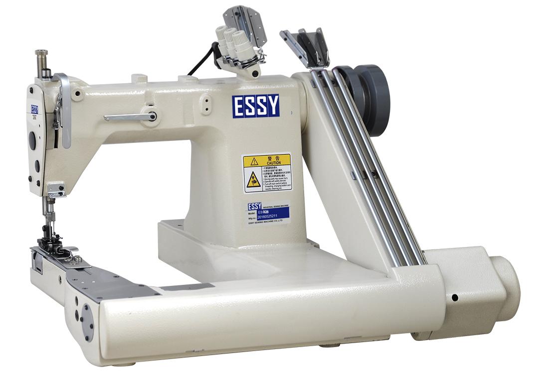 Máy cuốn ống 3 kim 5 chỉ ESSY ES928 chân bàn đồng