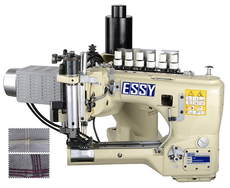 Máy cuốn ống 3 kim 6 chỉ mô tơ liền trục ES-5800DF