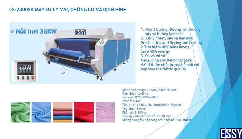 Máy xử lý chống co vải ESSY ES-2800SK
