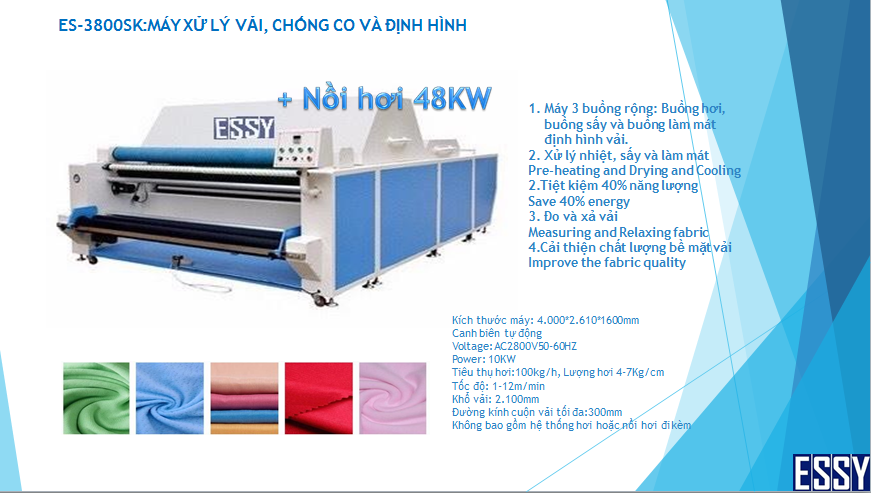 Máy xử lý co vải ESSY ES-3800SK