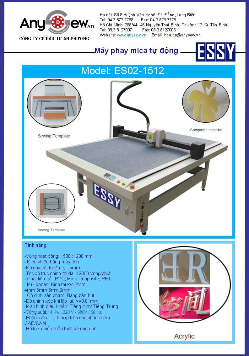 Máy phay mica tự động ESSY ES02-1512
